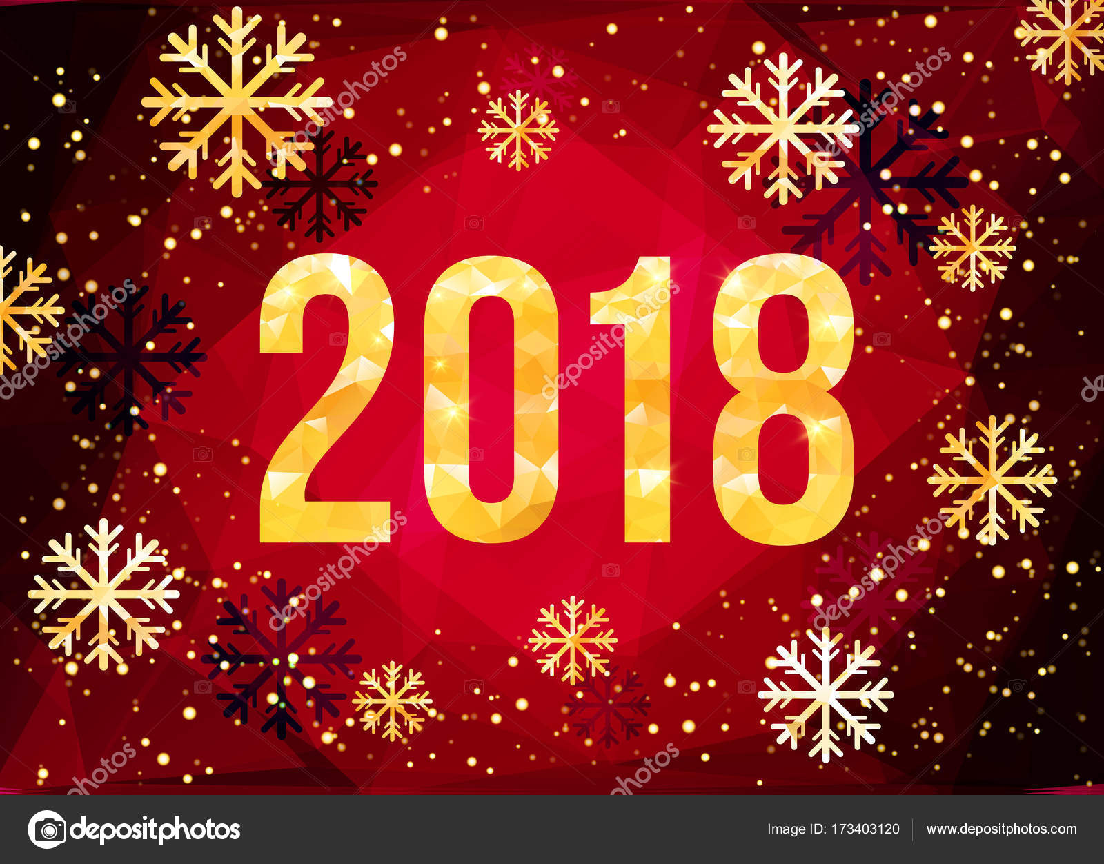 2018 happy new year background golden numbers with confetti on black background template for your seasonal flyers and greetings card vector illustration