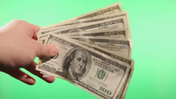 Hände winken mit Papiergeld