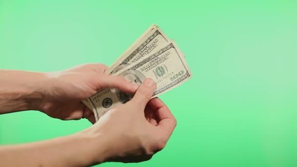 Hände zählen vereinigte Staaten Dollar