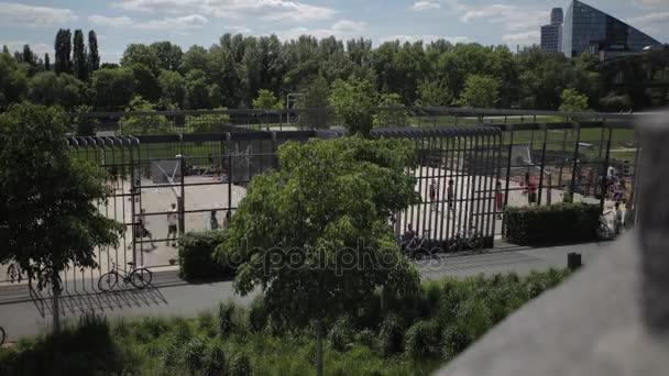 Time-lapse Panorama of a Frankfurt Park Activity