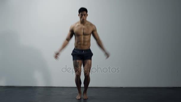 Fitness Model Jumping Jacks