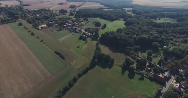 Wide Look at a German Countryside Landscape From the Air