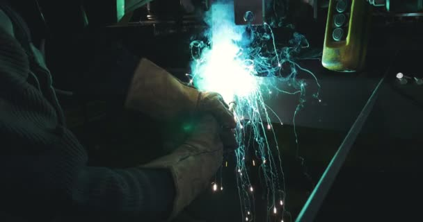 Gas Metal Arc Welding Sparks and Flames
