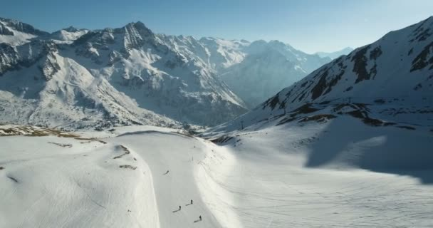 Beautiful Snow Covered Mountains and a Ski Slope