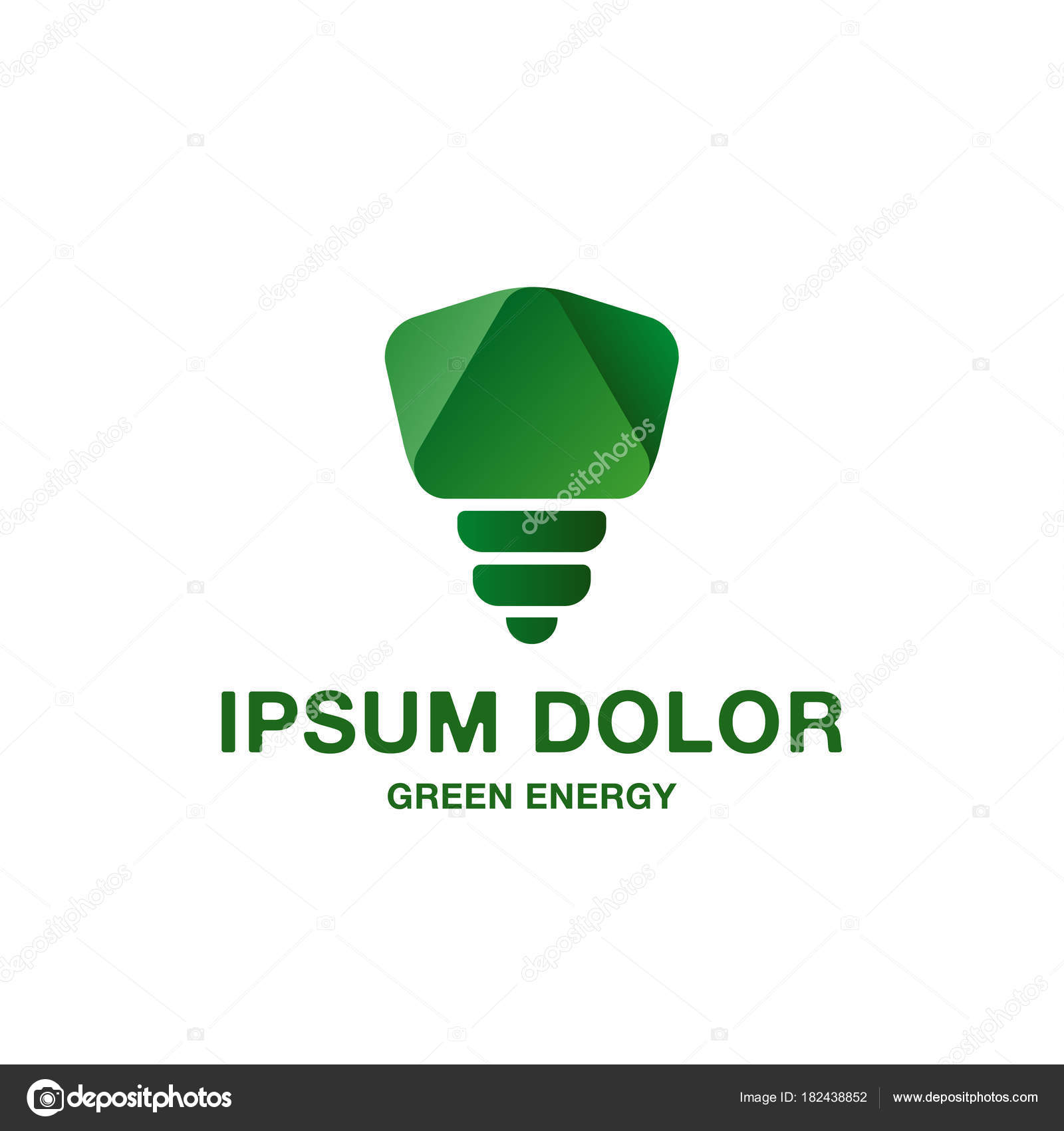Abstract and minimalistic green light bulb icon. Pure green energy ... for Green Light Bulb Logo  1lp1fsj