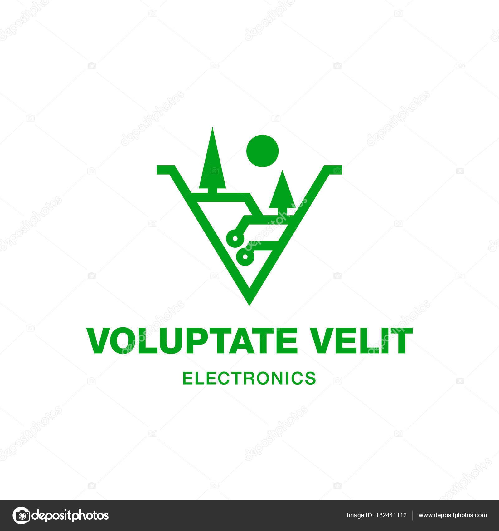 Circuito Y : Circuito y valle ícono minimalista abstracto electrónica valle