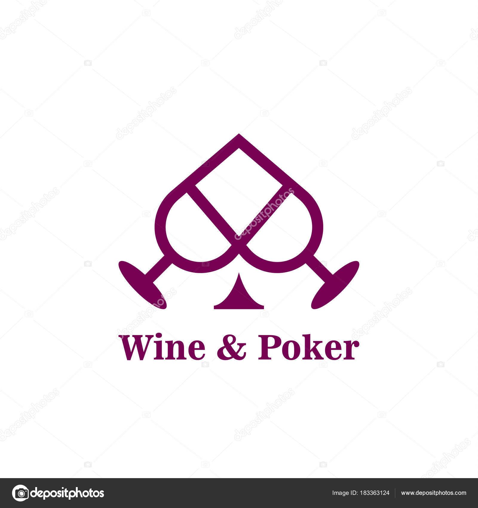 Costume De Pic Et Verres A Vin Abstraite Icone Modele Logo Poker Idee Pour La Carte Visite Du Casino Identite Marque Dentreprise