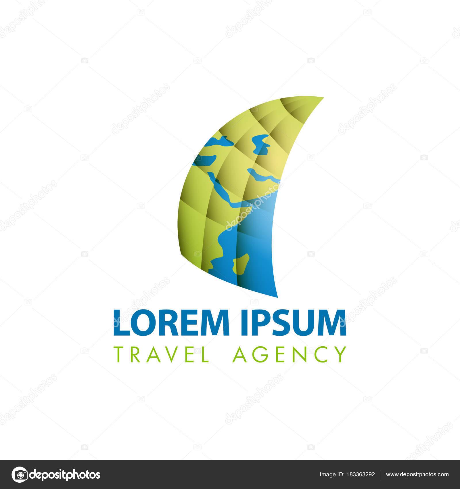 Carte Et Voile Icne Abstraite Modle De Logo Voyage Pour La Visite Identit Marque Dentreprise Vecteur Par Leo Troyanski
