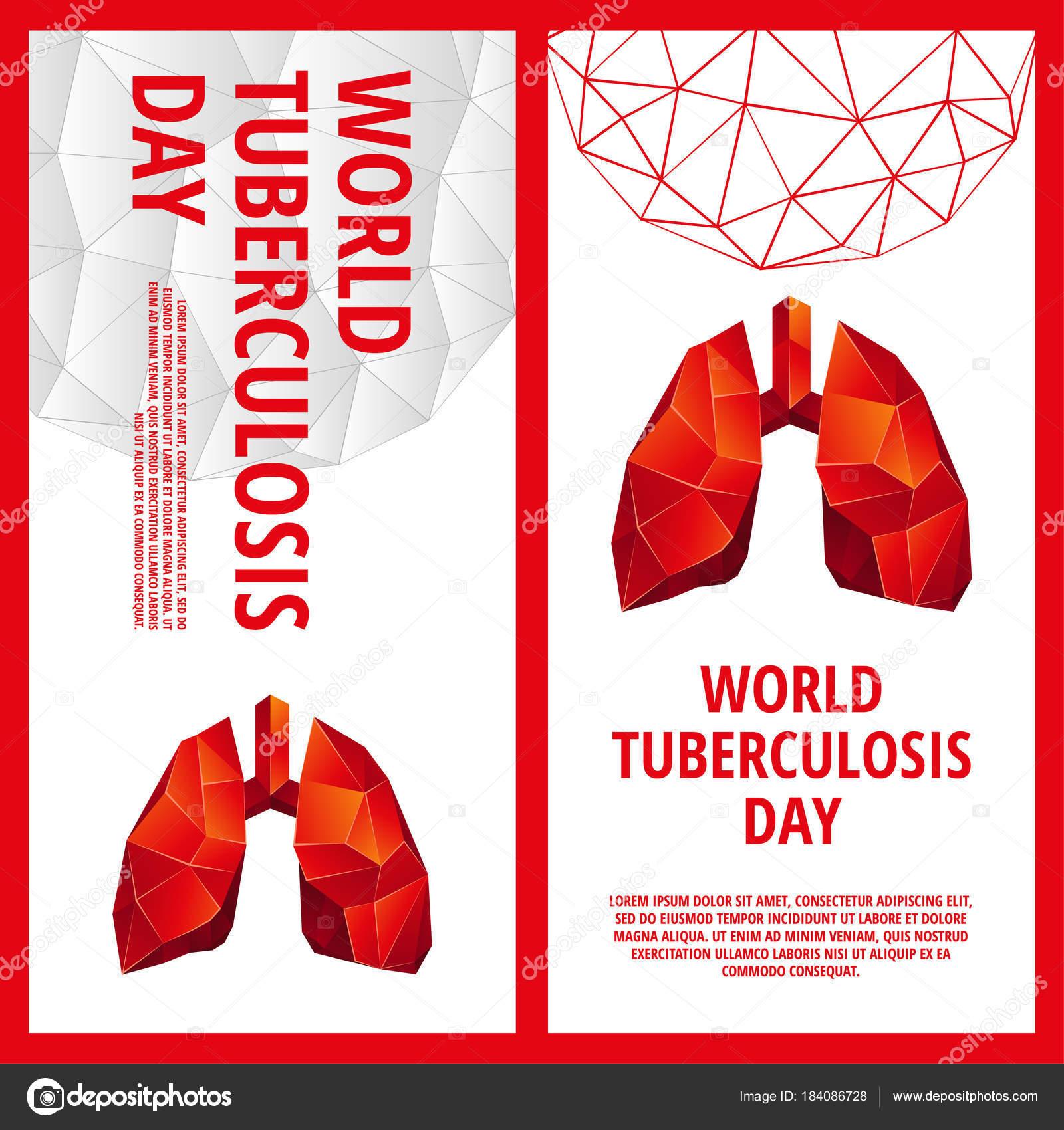 Plantilla de flyer día de la Tuberculosis mundial. Órgano de la ...