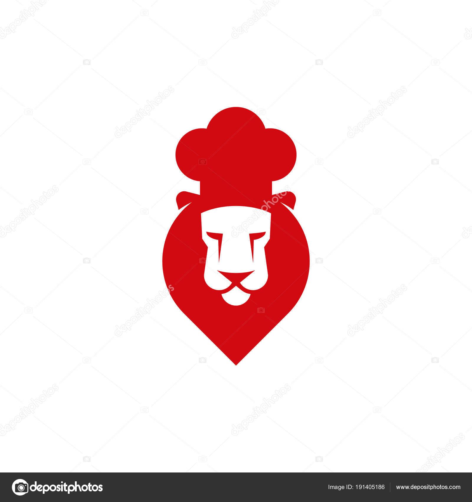 Chef Cuisinier Icne Tte De Lion Avec Cook Cap Ide Logo Pour La Carte Visite Identit Marque Et Dentreprise Vecteur Par