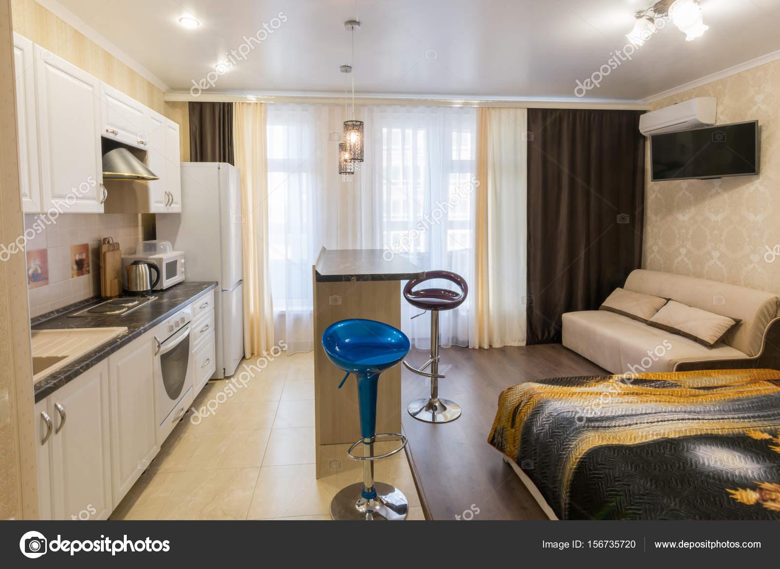 Interior apartamentos tipo estudio un plan general for Cocinas pequenas para apartamentos tipo estudio