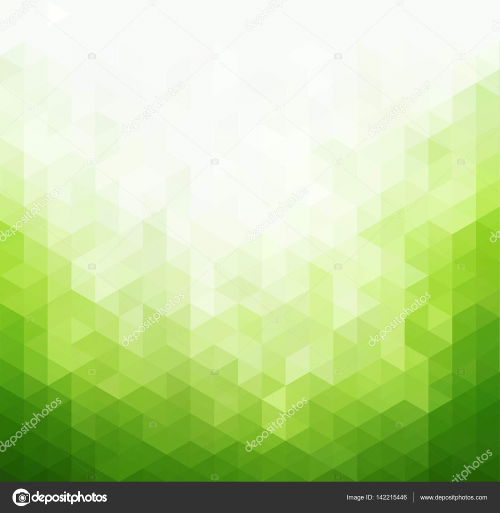 Abstract Green Light Template Background Stock Vector