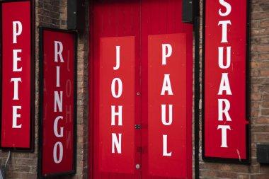 Liverpool, UK - October 30 2019: Exterior of the beatles museum on Matthew St in Liverpool