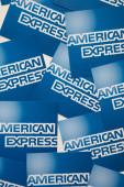 london, uk - 15. januar 2020: american express brand logo auf papier gedruckt