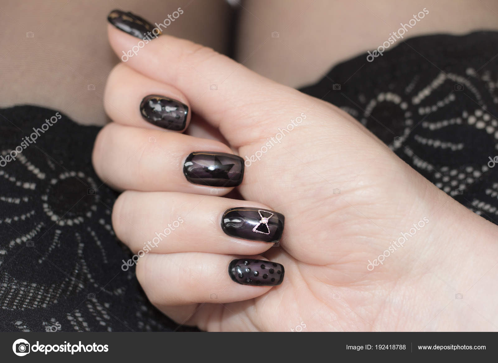 Designer nails in tone stockings. — Stock Photo © Bagira262626 ...