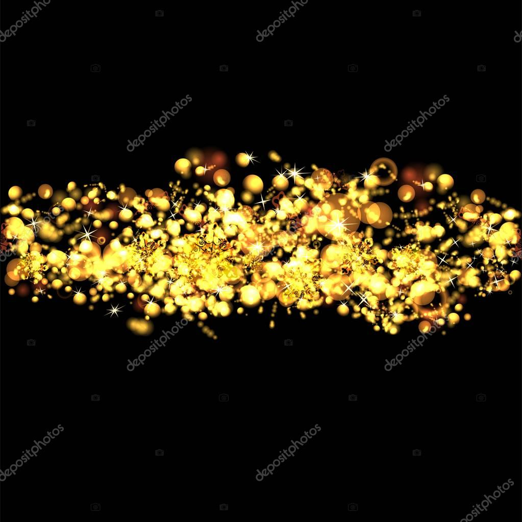 golden christmas background with stars photo by lienchen020 2 - Golden Christmas 2