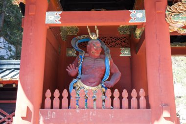 NIKKO, JAPAN - Feb 28 : Nio Benevolent Kings Sculpture in Nikko,