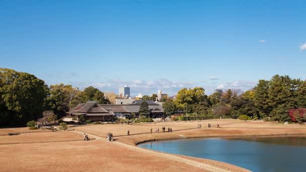 Okajama, Japonsko-Prosinec 1,2017 čas zanikla Korakuen, japonská zahrada
