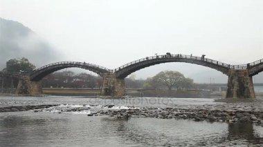 Kintai Bridge (Kintai-kyo), the most distinguished landmark of Iwakuni, Japan.