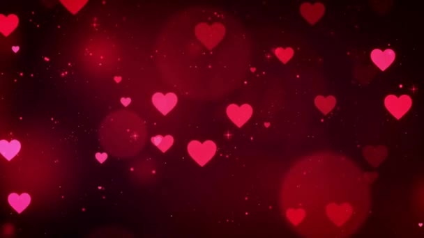 Animation Red Heart shape on gray background.