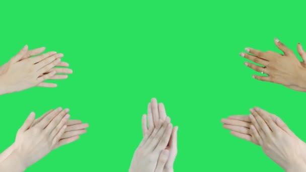 Animáció taps zöld háttér.