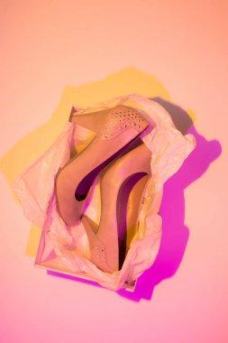 High heels in a box - women's footwear (shoes)