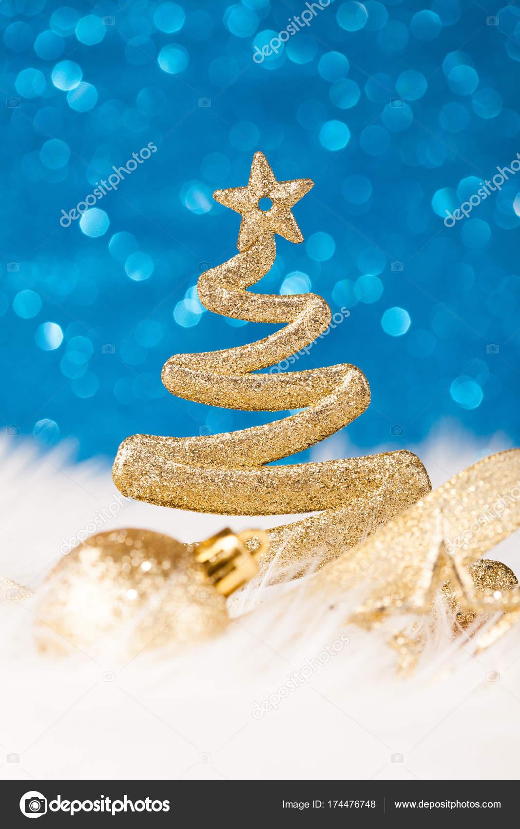 Immagini Di Natale Glitter.Albero Di Natale Golden Glitter Scintillanti Foto Stock