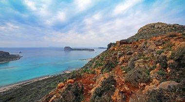 Landscape of Balos beach at Crete island in Greece.