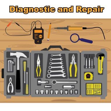Diagnostic and repair icons