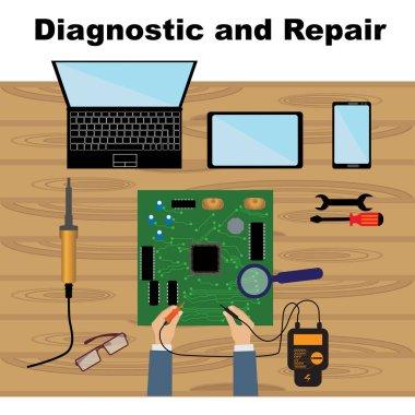 Electronics repair icons