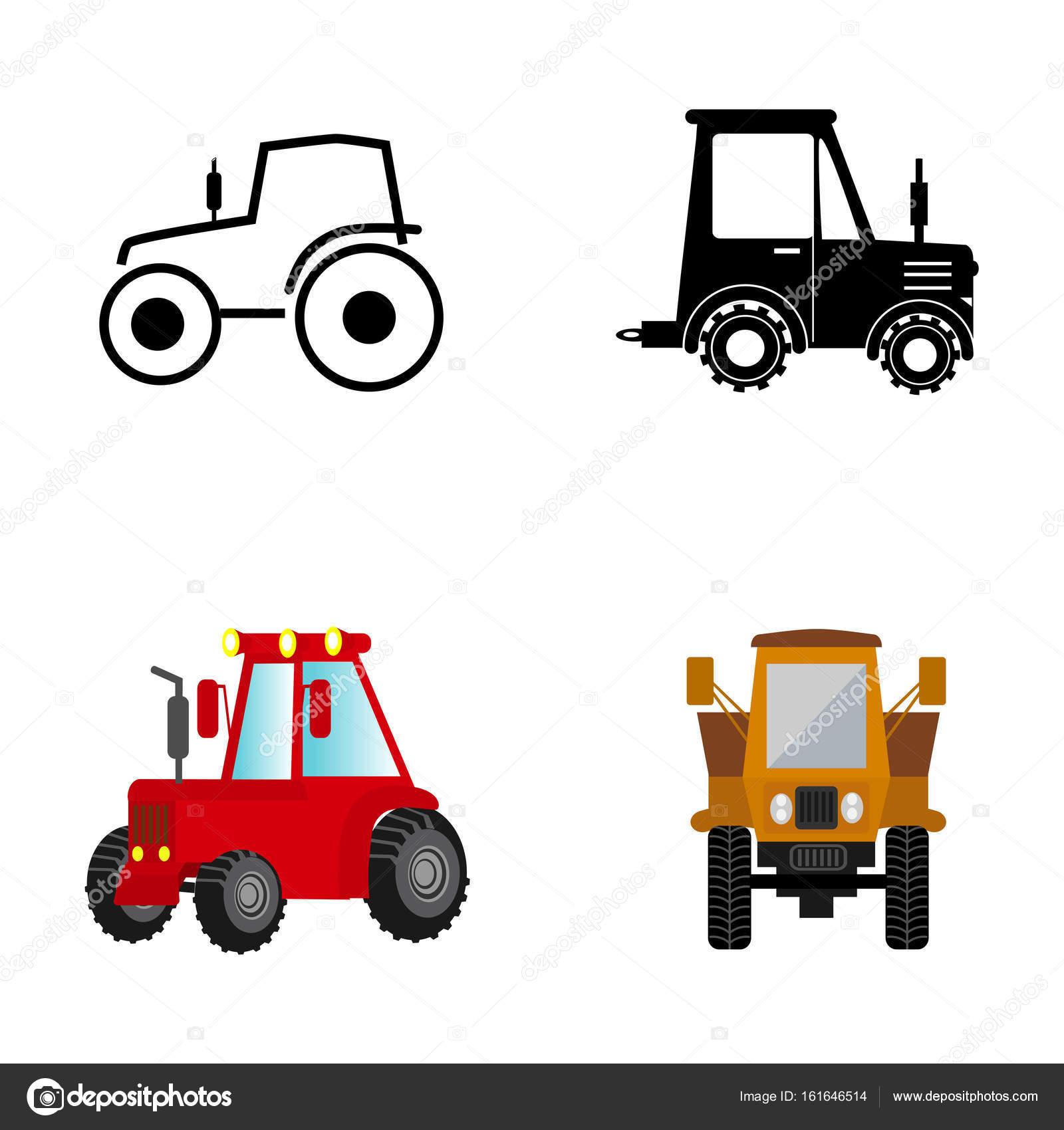 Barevne Zemedelske Traktory Stock Vektor C Krylovochka 161646514