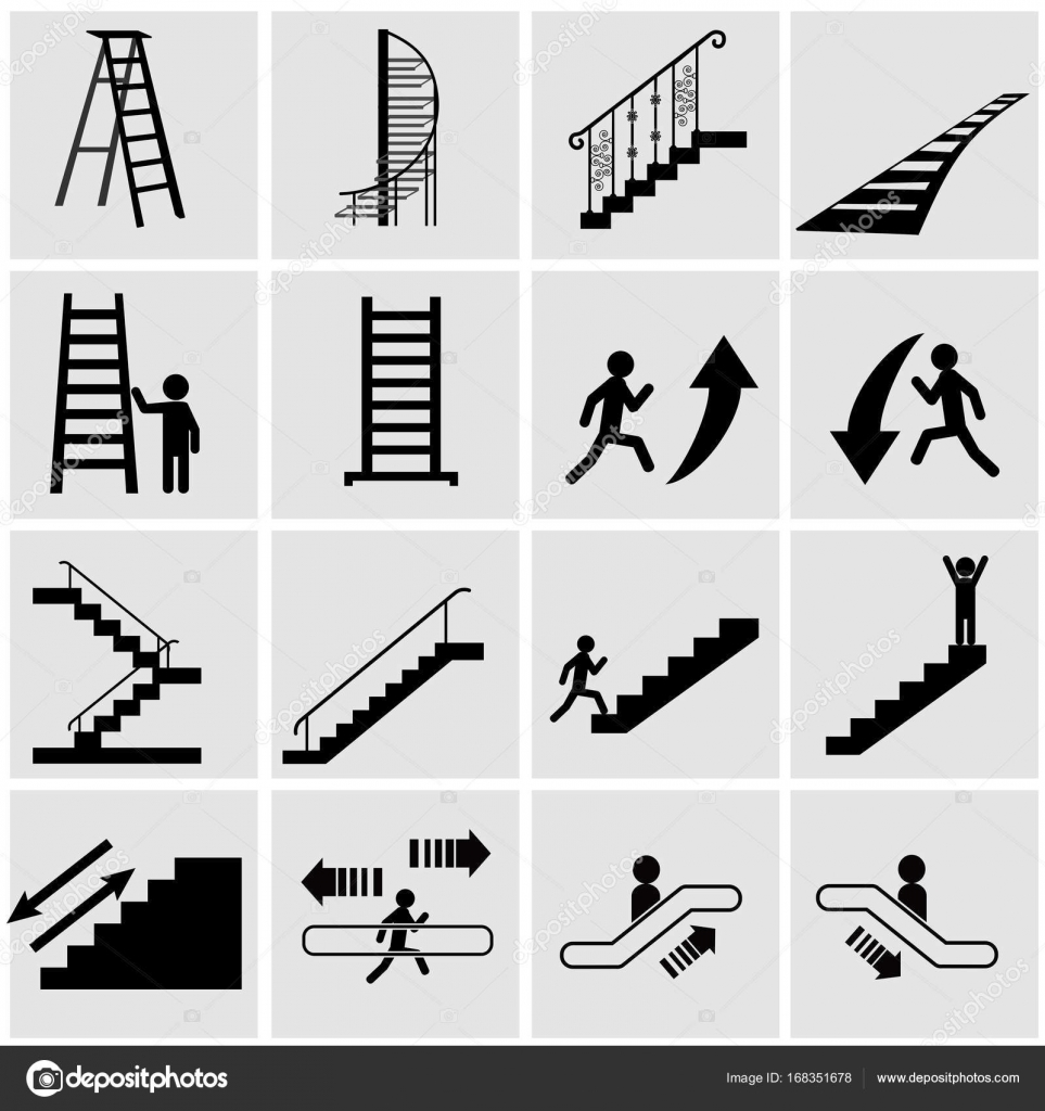 Different types of stairs stock vector krylovochka for Different kinds of stairs