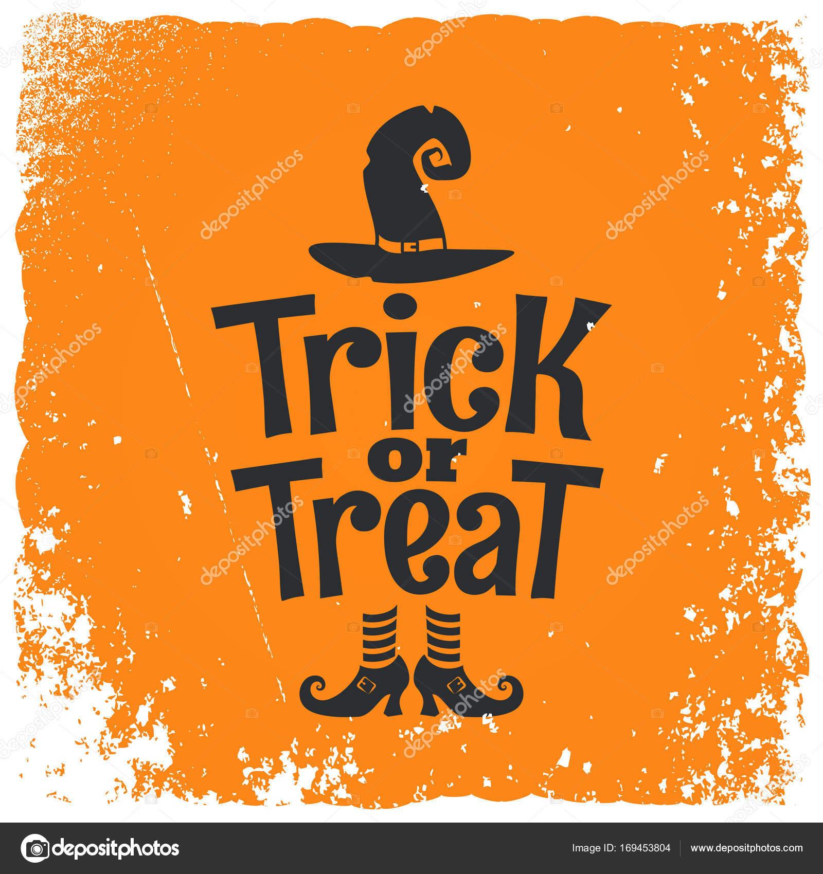 Süßes oder Saures Halloween Hexe Schriftzug Hintergrund ...