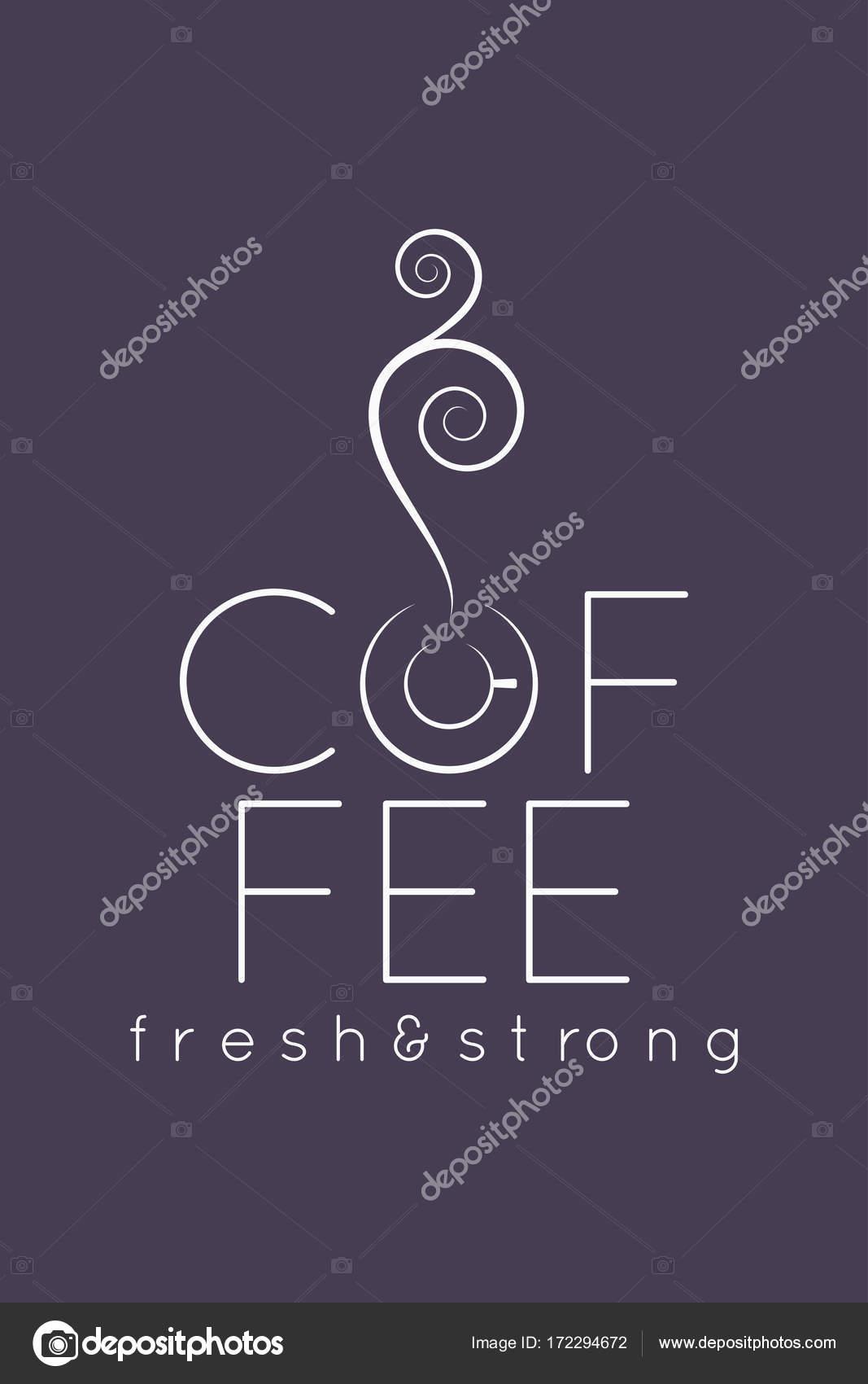 Kahve Kupası Logosu Menü Tasarım Arka Plan Stok Vektör