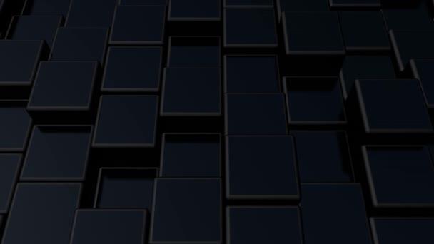 Minimalista kocka geometrikus absztrakt háttér. Fekete minimális minta absztrakt hullám animáció. Geometrikus mozgás háttér. 3D animációs render.