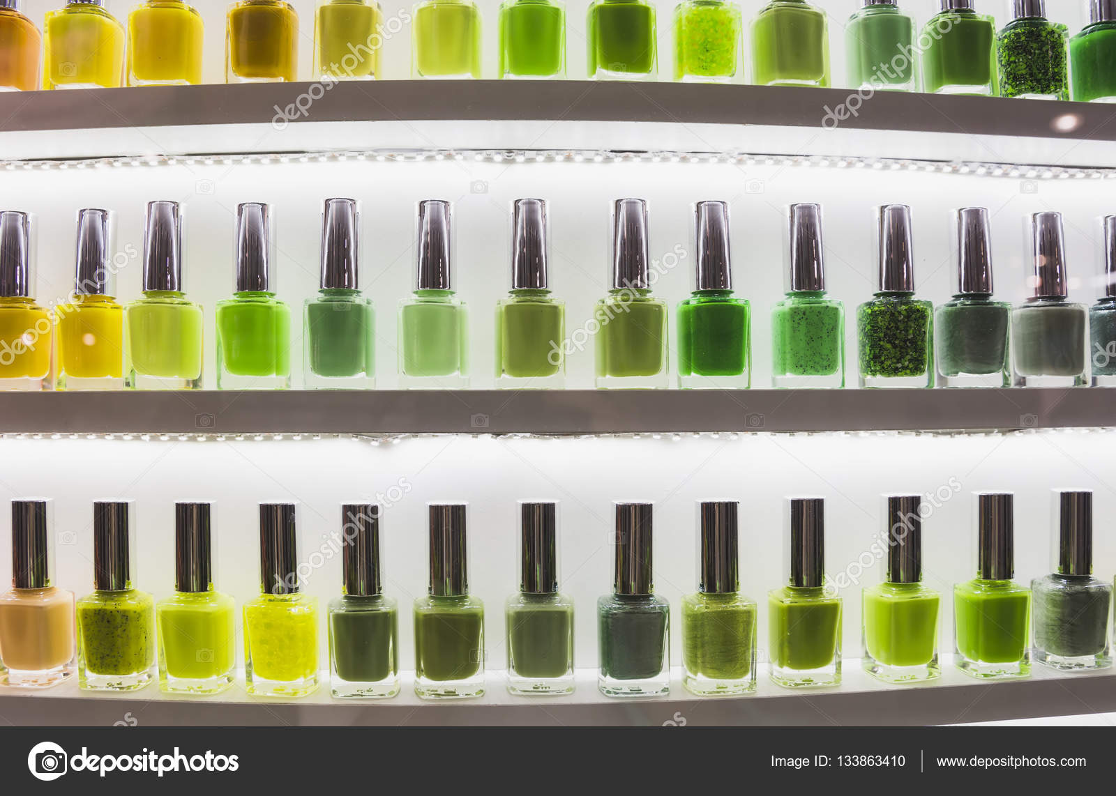Lagos de color de collar de esmalte de uñas — Foto de stock ...