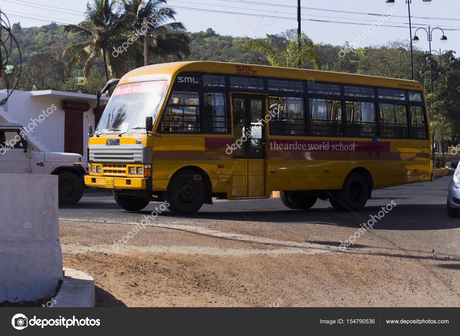 Images Indian School Bus Indian School Bus Yellow Stock