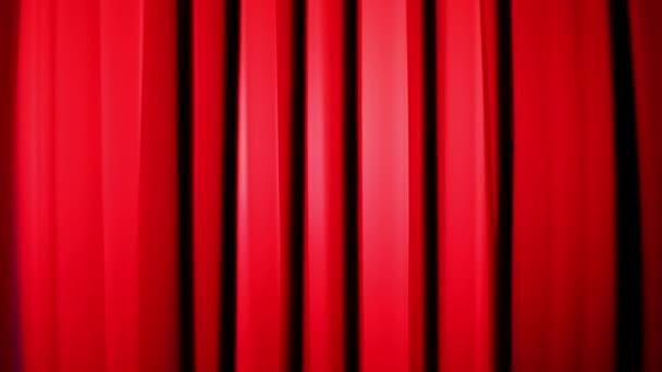 vibrierende elastische rote Streifen, die beschleunigen und verlangsamen