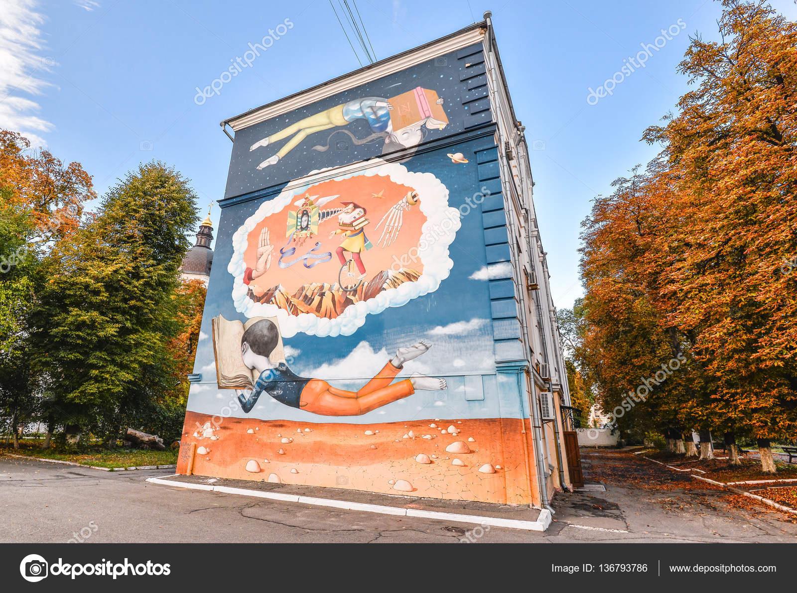 September 2016: Street Art Malerei Auf Einem Haus