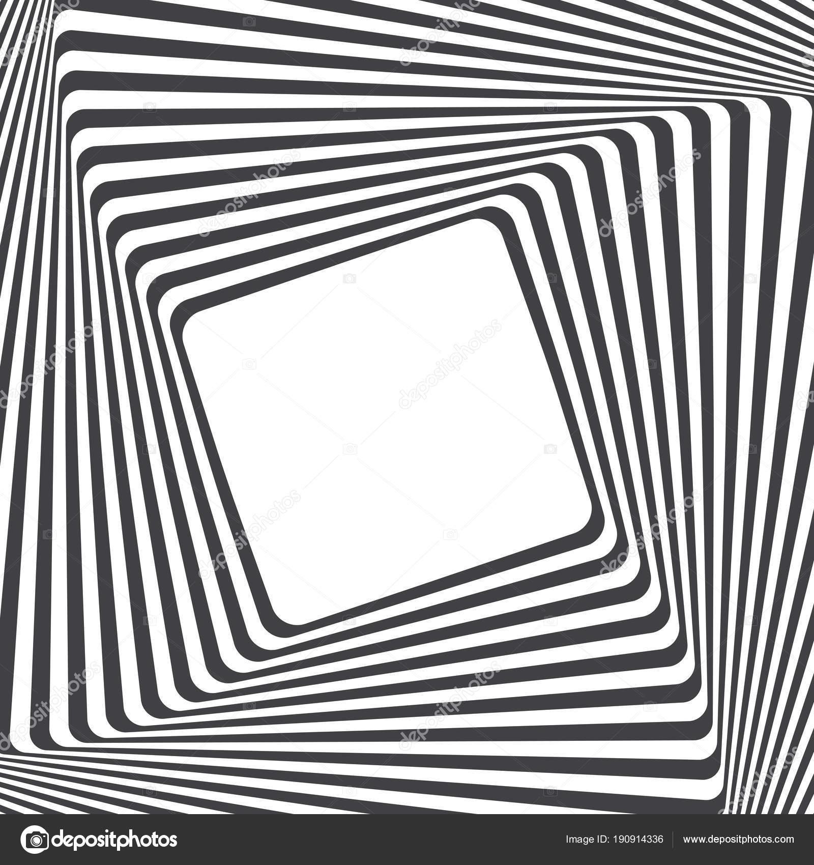 Fondo Arte Óptico Ilusión Óptica Marco Con Espacio Vacío Patrón ...