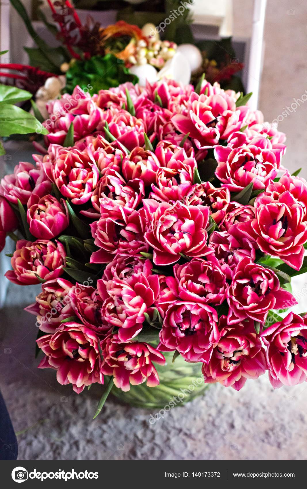 A bouquet of beautiful flowers stock photo julialototskaya a bouquet of beautiful flowers tulip a shelf in a flower shop flower fairs a market photo by julialototskaya izmirmasajfo