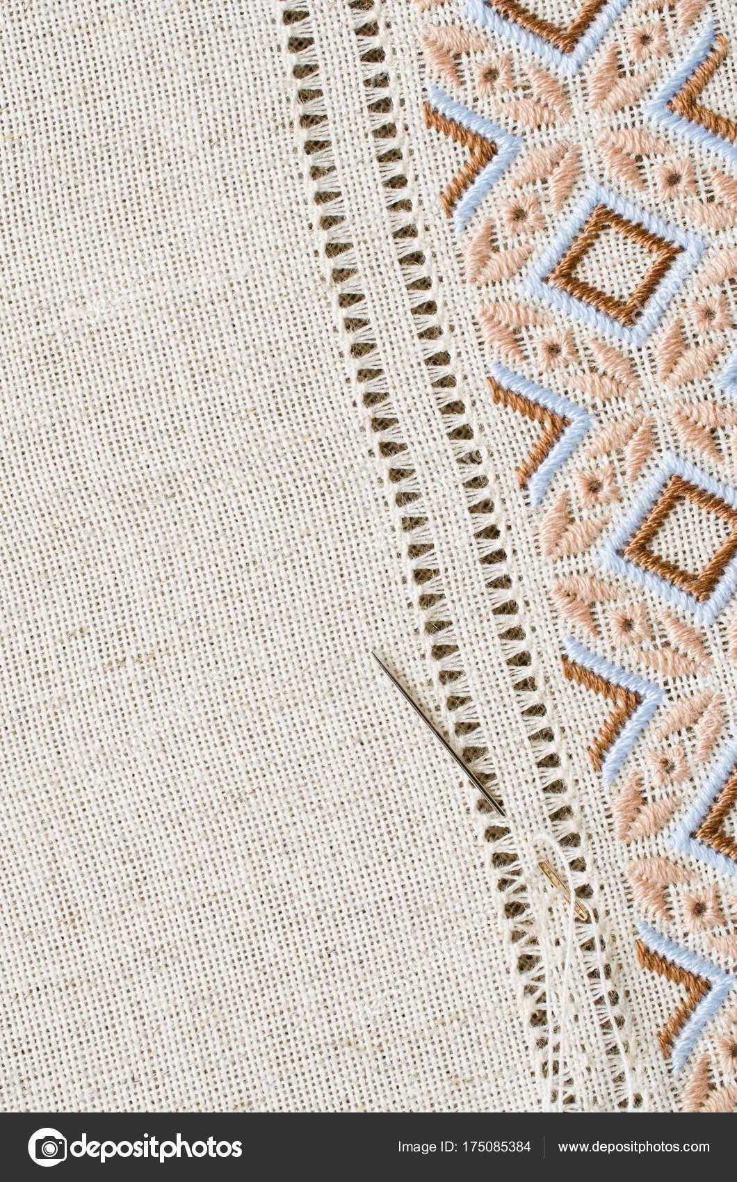 Bordados calados sobre tela | Hemstitch y puntada plana de textura ...