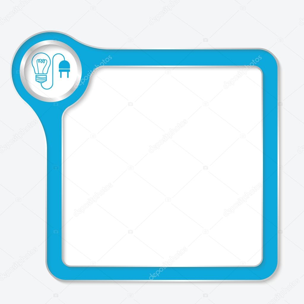 Vector Blue Box For Your Text And Idea Symbol Stock Vector
