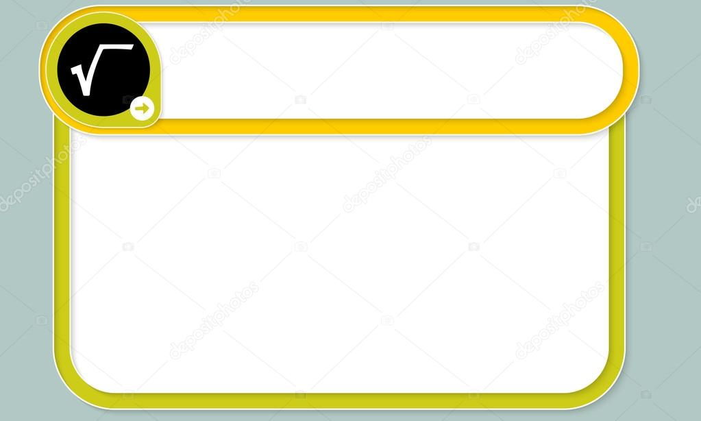 Colored Text Frames For Your Text And Square Root Symbol Stock