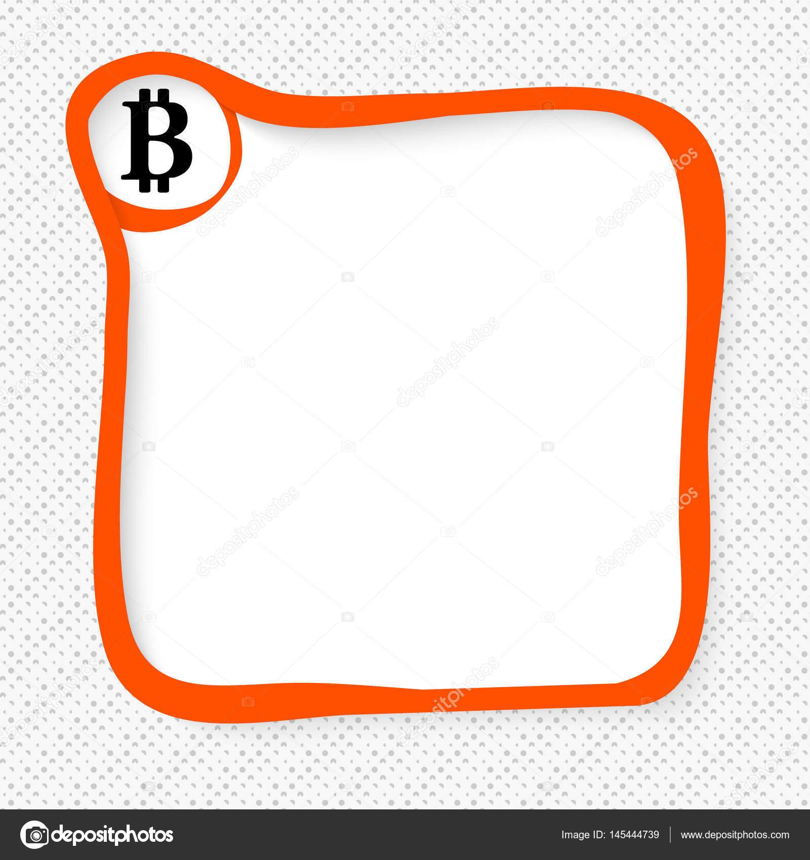 Roter Rahmen für Ihren Text und wenig Münz-symbol — Stockvektor ...