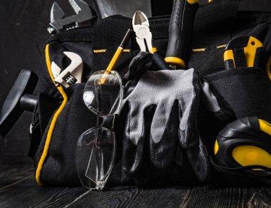 bag with repair tools