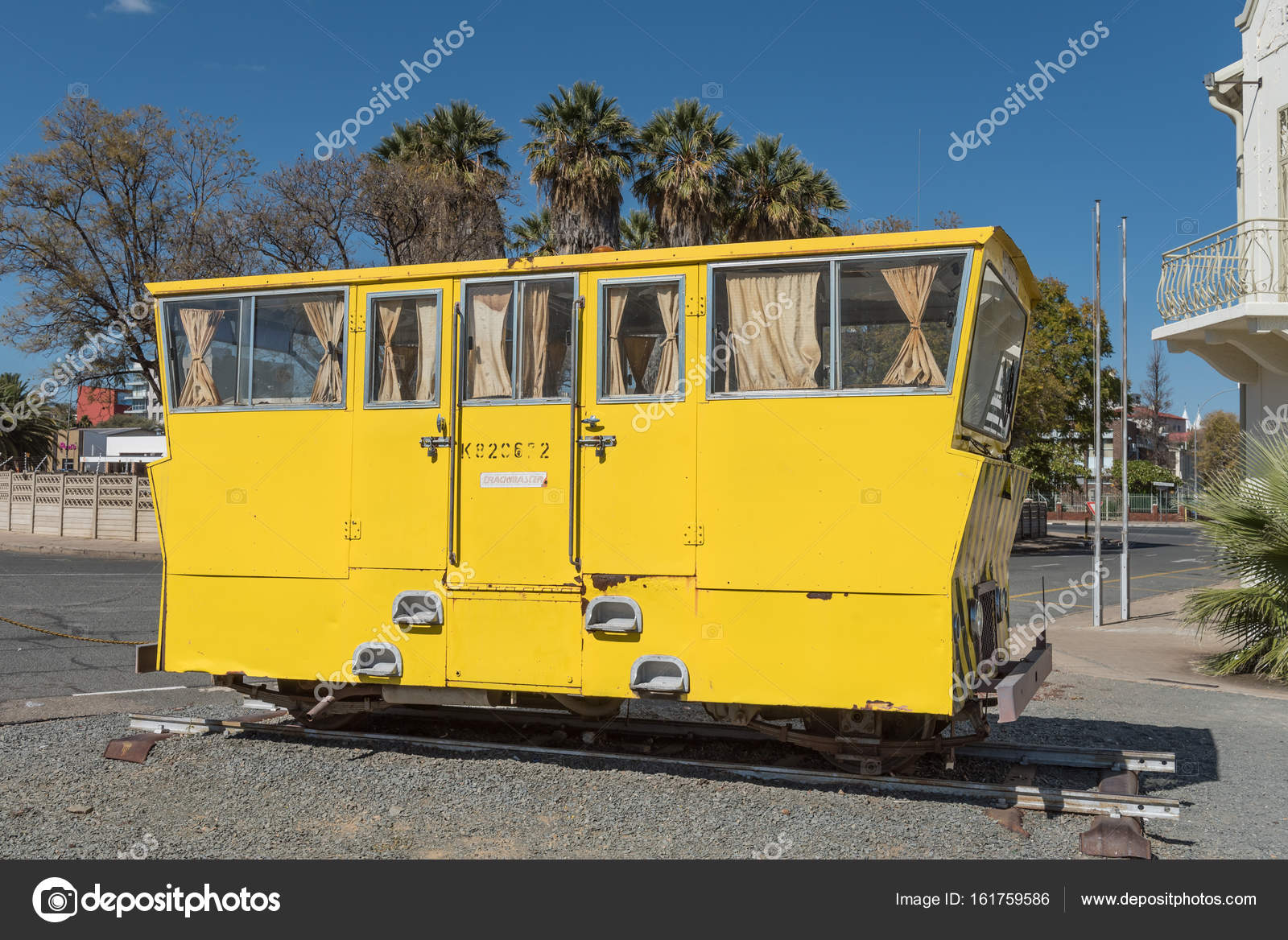 Rail track inspection car in Windhoek – Stock Editorial Photo