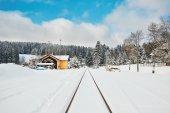 Staré nádraží v zimě