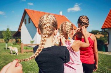 Girls with hair braids