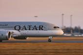 Katar Airways Boeing 787 Dreamliner během vzletu